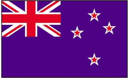 New Zealand flag. Photo credit: www.theflagshop.co.uk