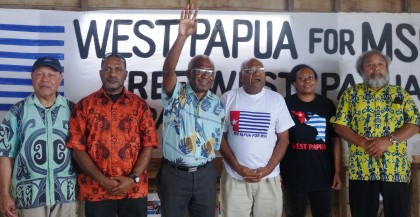 West Papuan freedom movement supporters. Photo credit: SIBC.