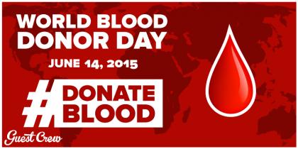 World Blood Donor Day 2015. Photo credit: www.guestcrew.com