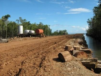 A logging facility in the Solomon Islands. Photo credit: 1worldmap.com