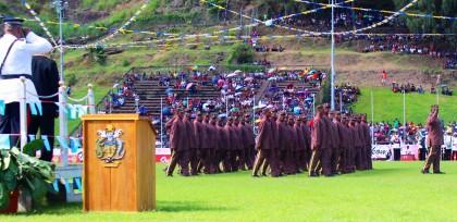 HCC platoon during the parade. Photo credit: HCC.