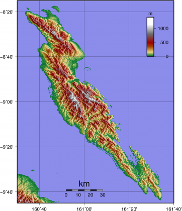 Malaita Topography. Photo credit: Wikipedia.