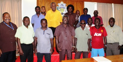 Prime Minister Manasseh Sogavare (center) with members of the Volekana Tribe. Photo credit: GCU.
