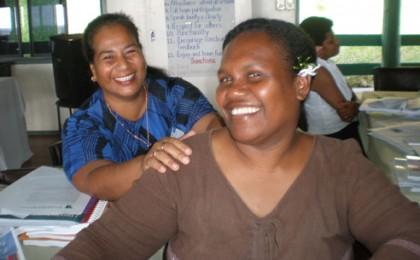 Ruth Maetala (forefront). Photo credit: www.governance.usp.ac.fj