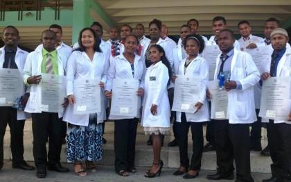 The graduate doctors from Cuba. Photo credit: Judith Foukona.