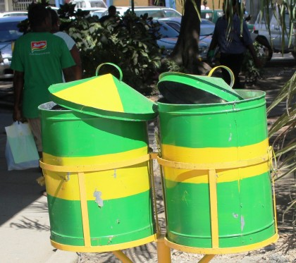 The new rubbish bins installed around the City. Photo credit: HCC.