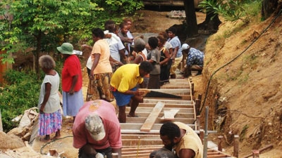 An urban renewal program providing training and employment opportunities in Honiara, the Solomon Islands. Photo credit: World Bank.
