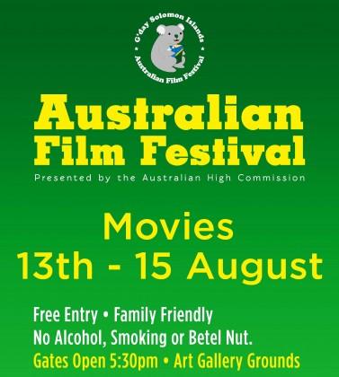 Australian Film Festival poster. Photo credit: pineapplepost.wordpress.com