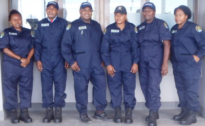 Officers of the Ministry in the uniforms. Photo credit: GCU.