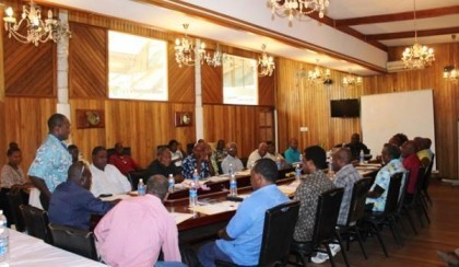 Peace-Building Policy Consultation with Guadalcanal Provincial Government. Photo credit: MNURP.