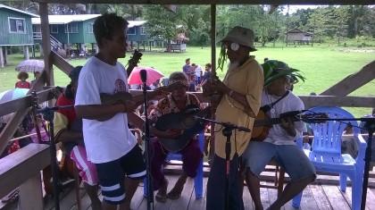 A string band performing at Bita'ama north Malaita