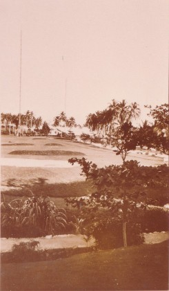 View over Tulagi showing Tulagi Radio masts (c.1935). Credit: Personal collection D.C. (Dick) Horton.