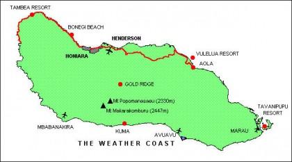 A map of Guadalcanal. Photo credit: www.commerce.gov.sb