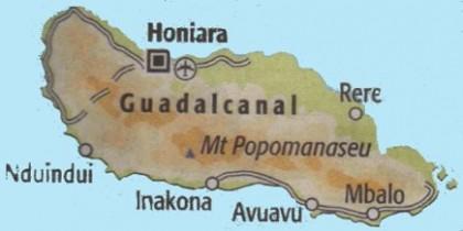 Guadalcanal map. Photo credit: janeresture.com
