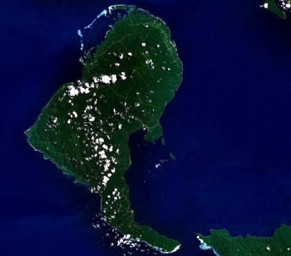 Rendova Island. Photo credit: NASA.