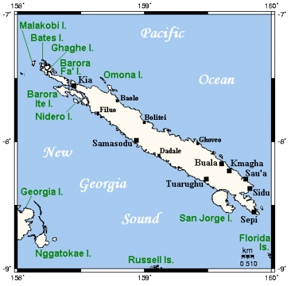 A map of Santa Isabel. Photo credit: www.quickiwiki.com