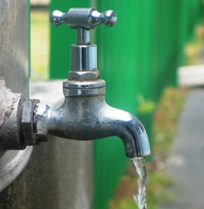 Water from a tap. Photo credit: SIBC.