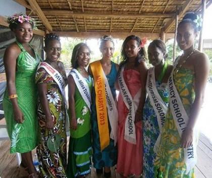 2013 Miss Solomon contestants. Photo credit: Solbrew.