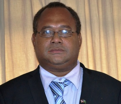Hon Samuel Manetoali-Minister for Environment, Climate Change, Disaster Management, Conservation and Meteorology and MP for Gao Bugotu. Photo credit: SIBC