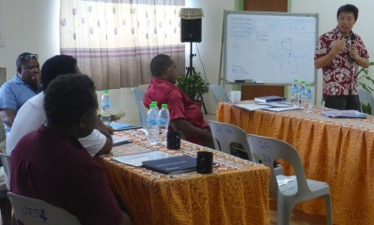 Participants at the Mental Health training. Photo credit: MHMS.