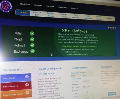The new SINPF website. Photo credit: SIBC.