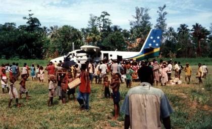 The Avu'avu airstrip. Photo credit: British Empire.