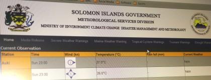 Solomon Islands Meteorological Services. Photo credit: SIBC.