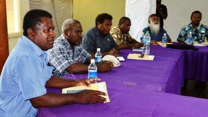 Premier Ramohia and Executive. Photo credit: RSIPF.