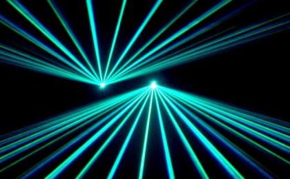 Laser lights. Photo credit: www.pinterest.com