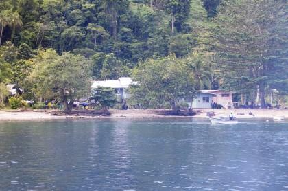Notice the coastal erosion along the Kariki shoreline. Photo credit: SIBC.