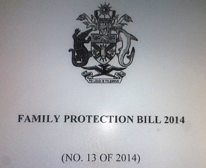 The Family Protection Act in its Bill form. Photo credit: SIBC.