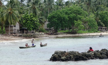 The remotely located Komaliai village in the Shortland islands. Photo credit: SIBC.