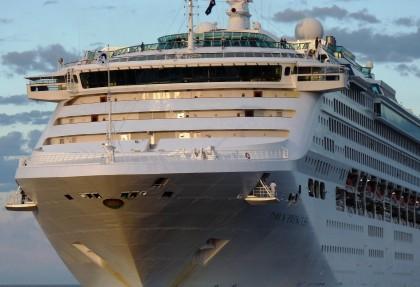 A cruise ship that recently visited visited Honiara, Dawn Princess. Photo credit: Australian Merchant/Navy.