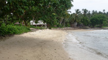 Shoreline in one of the villages. Photo credit: SIBC.