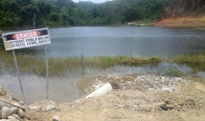 The Gold Ridge tailings dam. Photo credit: SIBC.