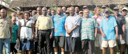 Stakeholders of the Fiu Hydro Project. Photo credit: Island Sun online.
