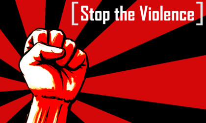 Stop violence. Photo credit: catenergy.deviantart.com