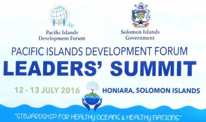 PIDF billboard in Honiara. Photo credit: SIBC.