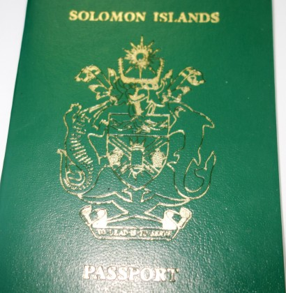 A Solomon Islands passport. Photo credit: SIBC.