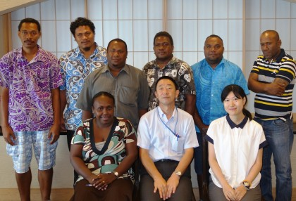 The seven candidates who will undertake their Masters studies in Japan this year. Photo credit: SIBC.