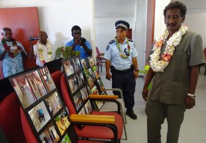 Western Provincial Premier Wayne Maepioh in the newly opened Batuna clinic. Photo credit: SIBC.