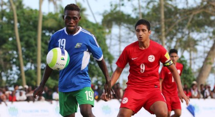 2015 U-20 golden boot winner Larry Zama had to earn his spot in the U-20 squad. Image: OFC Media.
