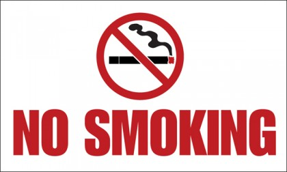 A No Smoking sign. Photo credit: Wilde Sign.