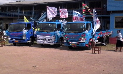 The three vehicles. Photo credit: SIBC.