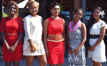 The 2016 Miss Solomon Islands Pageant contestants. Photo credit: SIBC.
