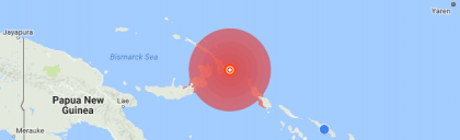 Magnitude 7.9 earthquake 132 km from Kokopo, Papua New Guinea · 17 Dec, 9:51 PM