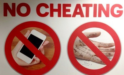 Stop cheating. Photo credit: Daily Mail.
