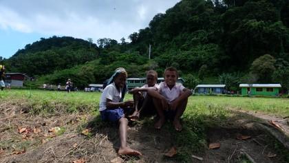 Children from Kalaka School having a break during lunchtime