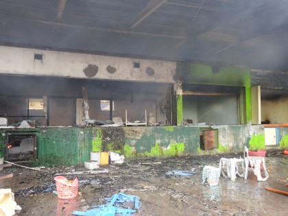 The damage caused by the fire