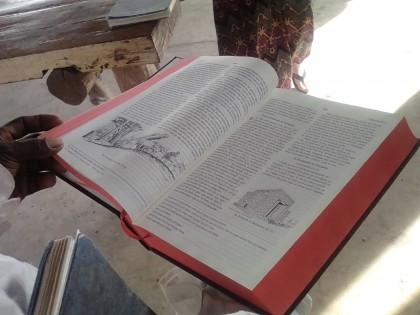 The Roviana translated Bible.